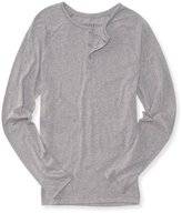 Aeropostale Mens Heathered Ls Henley Shirt M