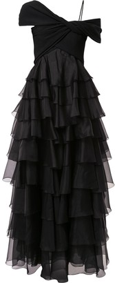 Giambattista Valli Ruffled Design Dress