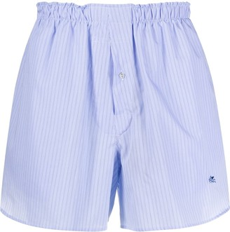 Etro pinstriped swimming trunks