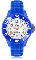 Ice Watch Ice-Mini Children's Size Ice-Watch White Dial Colourful Numbers Blue MN.BE.M.S
