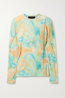 ANDERSSON BELL Paneled Tye-dyed Jersey Top - Mint