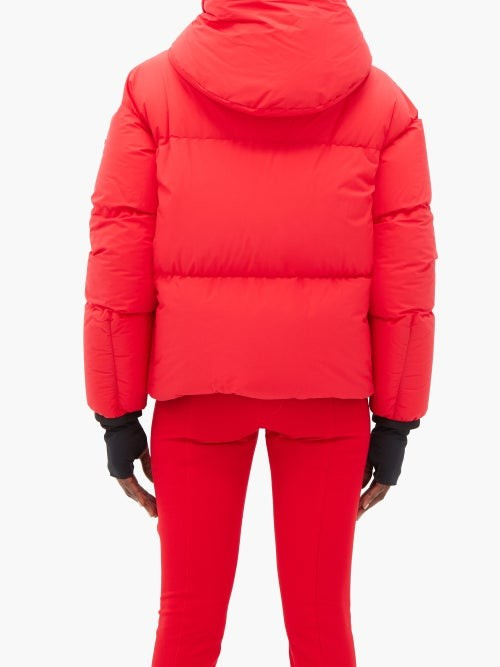 Thumbnail for your product : MONCLER GRENOBLE Allesaz Hooded Quilted Down Jacket - Red