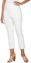Shape Fx White Ponte Knit Pull-On Slim Leg Crop Pants - Plus Too