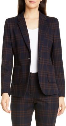Seventy Plaid Stretch Ponte Suit Jacket