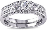 JCPenney MODERN BRIDE 1-1/10 CT. T.W. Diamond 14K White Gold 3-Stone Bridal Ring Set