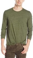 Velvet by Graham & Spencer Men's Earnest Long Sleeve Crew Neck Jersey Tee
