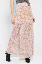 Urban Outfitters Pins And Needles Silky Double-Slit Maxi Skirt