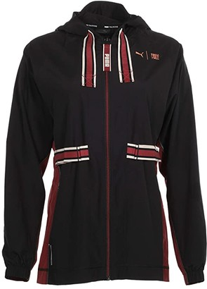 Puma The First Mile Anorak Black/Burnt Russet) Women's Clothing