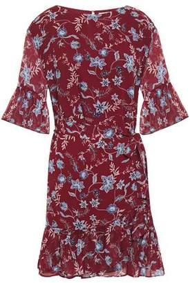 Rebecca Minkoff Wendy Wrap-effect Floral-print Chiffon Mini Dress