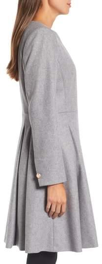 Ted Baker Women's Wool Blend Asymmetrical Skirted Coat