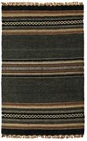 Karma Living Serial Stripe Woolen Hand-Loomed Jute Rug