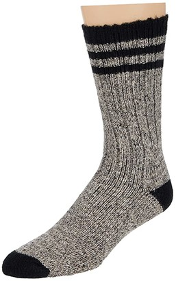Wigwam Pine Lodge (Natural/Black) Crew Cut Socks Shoes