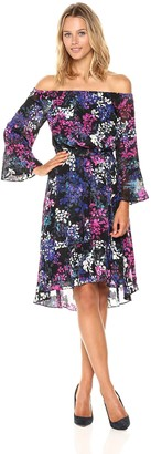 Rachel Roy Women's Floral Off Shoulder Dress