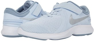Nike Kids FlyEase Revolution 4 Wide (Big Kid) (Half Blue/Metallic Silver/Obsidian Mist) Boys Shoes
