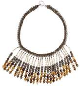 Brunello Cucinelli Bead Fringe Collar Necklace