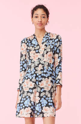 Rebecca Taylor Blush Rose Swirl Jacquard Dress