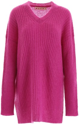 Marni Oversized Ribbed Knitted Sweater