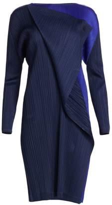 Pleats Please Issey Miyake Hidden Colors Long Sleeve Dress