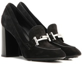 Tod's Double T Suede Loafer Pumps