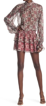 Ramy Brook Collin Long Sleeve Blouson Mini Dress