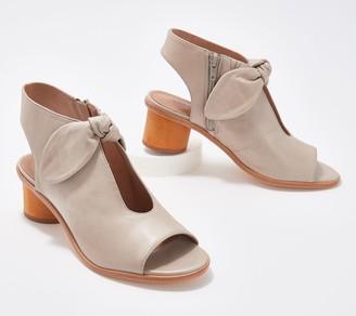 Bernardo Leather Peep Toe Sandals - Luna