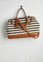 ModCloth Impromptu Escape Weekend Bag in Black and Ivory