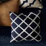Bamboo Lattice Applique Pillow Cover