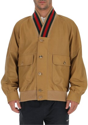 Gucci Contrasting Trim Bomber Jacket