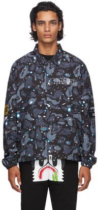 BAPE Black Space Camo Coach Jacket