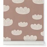 ferm LIVING Cloud Wallpaper - pink