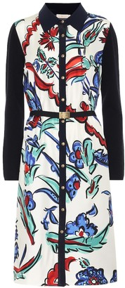Tory Burch Printed silk and wool shirt dress