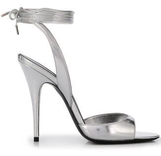 Saint Laurent 105mm Metallic Sheen Stiletto Sandals