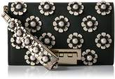 Zac Posen EARTHETTE LARGE CLUTCH BLACK