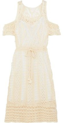 See by Chloe Cold-shoulder Crocheted Lace Cotton Dress