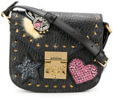 MCM mini Patricia crossbody bag - women - Leather/Crystal/metal - One Size