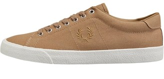 Fred Perry Mens Underspin Canvas/Crepe Trainers Almond