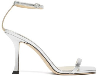 Jimmy Choo Marin 90 Metallic-leather Sandals - Silver