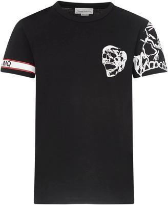 Alexander McQueen Tshirt Biker Graphics Skull