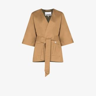 Ganni Cotton Kimono Jacket