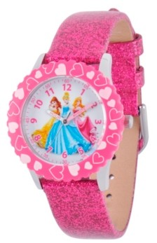 EWatchFactory Disney Princess Girls' Stainless Steel Time Teacher Watch