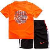 Nike 2-Pc. Basketball Graphic-Print T-Shirt & Shorts, Little Boys