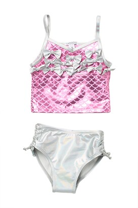 Flapdoodles Mermaid Scales 2-Piece Swimsuit