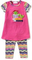 Bonnie Jean Little Girls 2T-6X Bookworm-Applique Dress & Printed Leggings Set