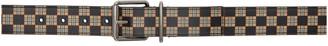 Burberry Beige Mack Check Belt