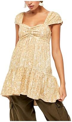 Free People Pattern Play Mini Dress (Neutral) Women's Dress