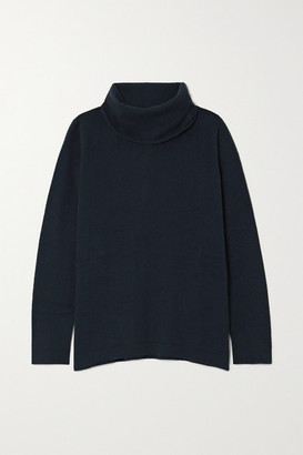 Allude Cashmere Turtleneck Sweater - Navy