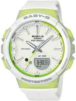 Baby-G Casio Baby G Casio Baby G Step Tracker White Resin Strap Ladies Watch