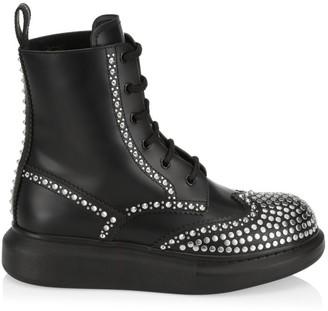 Alexander McQueen Studded Leather Platform Combat Boots