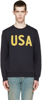Palm Angels Navy 'USA' Pullover