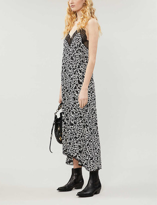 Zadig & Voltaire Risty heart-print silk-crepe dress
